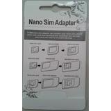Adaptador 4 Em 1 Nano Chip Mini Micro Sim Card - 5 Unidade
