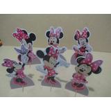 Kit 50 Display Minnie Rosa Decoração De Mesa Festa