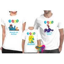 Kit Com 3 Peças Camisa Personalizada Galinha Pintadinha A4