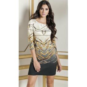 - Elegante Vestido Multicolor Andrea Estampado 1164916
