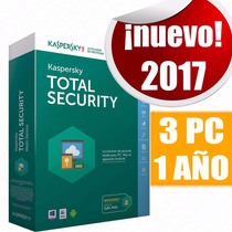 Licencia Kaspersky Total Security 2017 3 Pc 1 Año Original