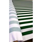 Malha Listrada Verde E Branca Confecção Decoração Por Metro