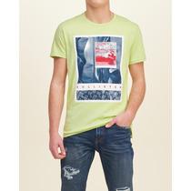 Camiseta Estampada Hollister Hombre Buzo Ropa Barata Deporte