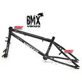 Quadro 20 Bmx Street Venzo Cube Cros + Garfo Dirt Bike Preto