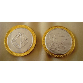 Oferta Paquete De 10 Monedas De Chocolate C/ Repujado Nvd