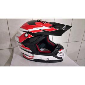 Capacete Ls2 Mx 456 Top Nº 60 Ou 62 Motocross Trilha Fox Asw