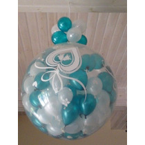 Piñata Burbuja Cristal 40 Globitos Con Dijes Englobados
