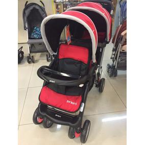 Coche Bebes Doble Para Hermanitos 6 Ruedas Sweet Babies