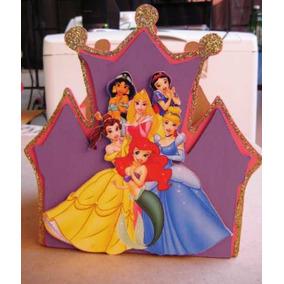 Castillo De Madera Mdf Para Centro De Mesa De Princesas