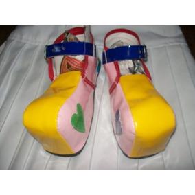 Gcg Zapatos Payasita Niña Económicos Numero 21 Amarillos