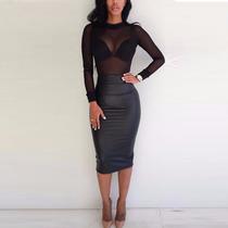Camisa/blusa Renda Transparente Ladies Tops Plus Size