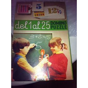 Juego De Mesa Dominó Puzzle Retro Vintage Niños De 4 A 8 Año