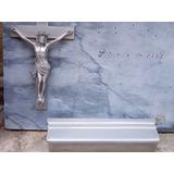 Lapida De Marmol Italiano Color Plomo Completa