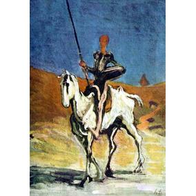 Lienzo Tela Don Quijote Honoré Daumier 72 X 50 Cm Arte