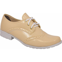 Sapato Sapatenis Feminino Oxford Verniz Chiquiteira Ref 60