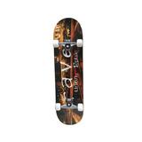 Skate Semi Profissional Com Lixa Abec 7 E Rodas Pu Até 90 Kg