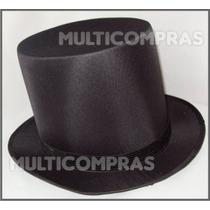 Elegante Sombrero De Copa Unitalla Chistera Mago Dark Punk