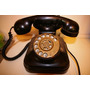 Telefono Antiguo De Baquelita A Disco Negro