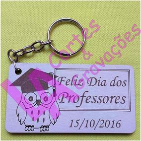 Lembrança Dia Dos Professores Chaveiros Mdf Branco 50 Peças