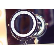 Top Espelho De Mesa Luz De Led Cromado Pronta Entrega !