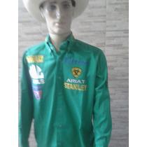 Camisa Rodeio Ariat Rodeo Verde Bordado Costas