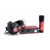 Kit Estdio Microfone + Fone + Interface 2i2 Scarlett Studio