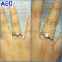 Anillo Comprom Oro18k Diamante De 0.15ct Certificado Laborat