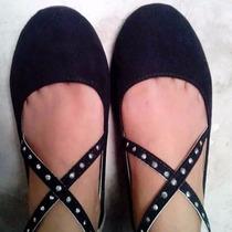 Zapatillas Balerina Negras Femeni