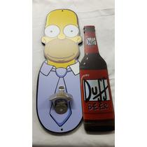 Abridor Garrafas Parede Homer Simpson Suporte Mdf Adesivado
