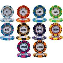 Poker Estuche 500 Fichas Pro 14 G Monte Carlo Poker Club