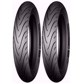 Pneu Michelin 275-18 + 100/90-18 Pilot Street Strada Titan