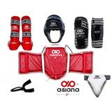 Kit Paquete Asiana Equipo Proteccion Completo Taekwondo