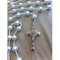 Lazo O Rosario De Boda Matrimonio En Perlas Blancas