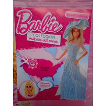 Revista De Barbie Coleccion Vestidos Del Mundo De Pais Usa