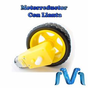 Motorreductor Con Llanta Para Carro Arduino, Motoreductor