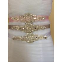 Cinturon Para Vestido De Novia Cinturón De Cristal, Pedreria