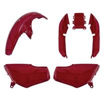 Kit Carenagem Titan Cg125 95 Até 99 Vermelho