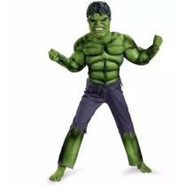 Novo!!!fantasia Incrível Hulk Infantil Luxo Músculos P M G