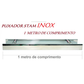 Puxador De 1 Metro Em Inox Stan + Fechadura Auxilar Stam