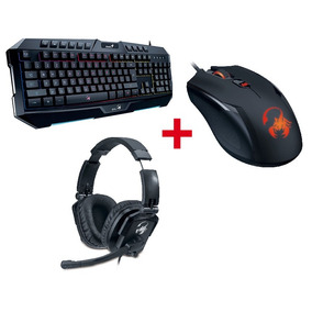 Combo Gamer Gx Teclado K20 + Mouse Ammox + Auricular Lychas