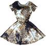 Vestido Estampado Boneca Princesa Rodado Com Bojo