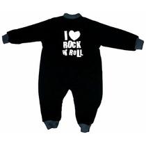 Ropa De Bebe Alternativa - Mamelucos Negros Rockeros