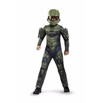 Traje Disfraz Niño Soldado Master Chief Personaje Halo 14-16