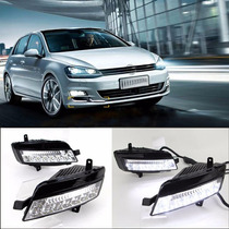 Par De Faros De Niebla Led Drl Vw Golf 7 2014-2016