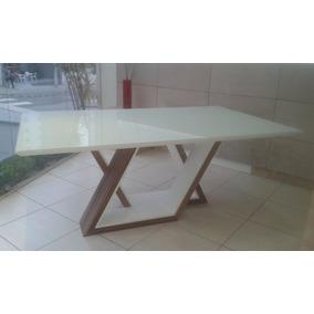 Mesa Jantar Retangular Design, Madeira Laca 1,80 X 1,00 Nova