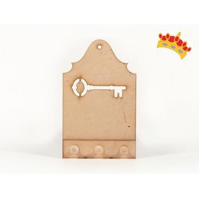 Porta Llaves Con Llave Calada 18x11cm - Fibrofácil - Oferta!