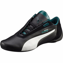Tenis Puma Future Cat S2 Mercedes Petronas Negro Blanco Gym