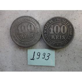 M - 1993 - 2 Moedas Brasil 100 Réis Antiga!!!