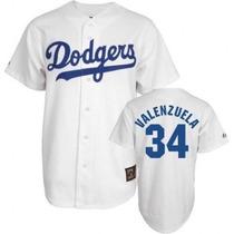 Jersey Fernando Valenzuela 34 Dodgers Entrega Inmediata Vrn