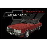 Camiseta Masculina Bordado Chevrolet Opala Diplomata 88 Cupê